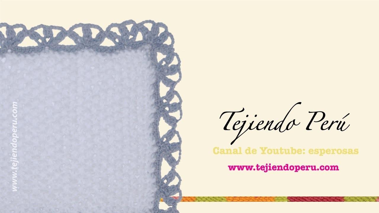 Borde tejido en crochet # 1