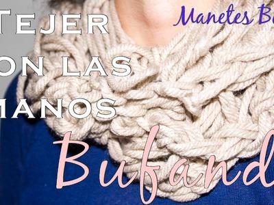 Bufanda de lana tejida con las manos | Tutorial DIY