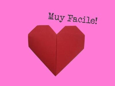 Cómo doblar un corazón de papel - Muy facile - Origami - Instrucciones