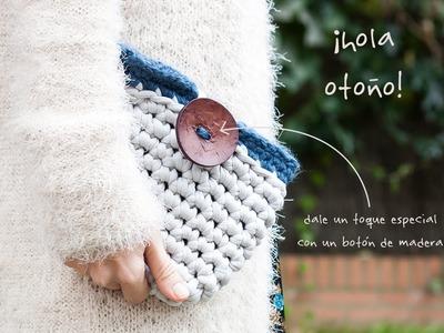 Cómo hacer un bolso con trapillo | How to crochet a zpagetti pouch