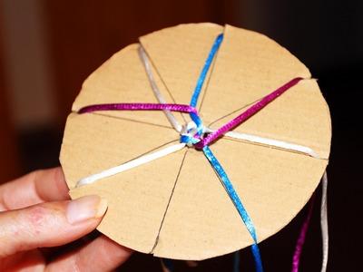 Cómo hacer un círculo Kumihimo paso a paso | Tutorial DIY
