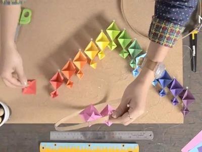 Cómo hacer un móvil de origami