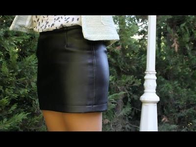 Como hacer una falda de cuero DIY