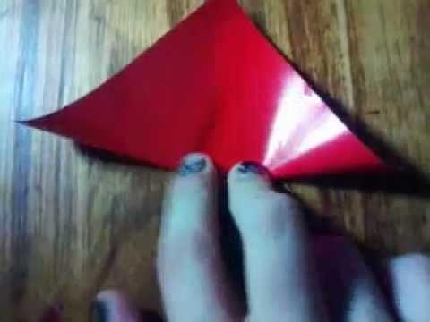 Como hacer una flor basica de origami con 4 o 6 petalos- Facil y rapido :) Origami♥