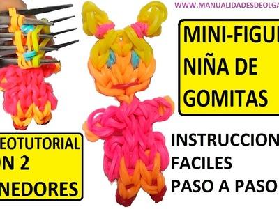COMO HACER UNA NIÑA DE GOMITAS (MINI-FIGURA) CON DOS TENEDORES. TUTORIAL DIY.