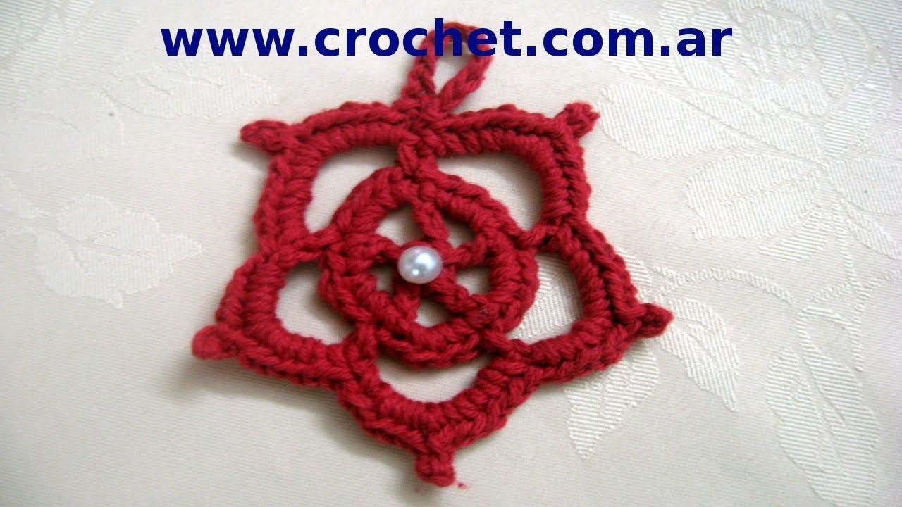 Como tejer Estrellas faciles de navidad en tejido crochet, tutorial paso a paso.