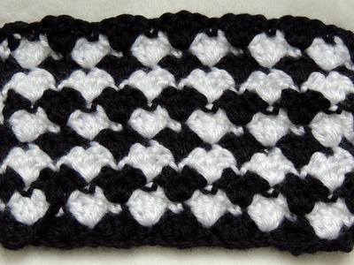 Crochet : Punto Fantasia en Blanco y Negro # 2