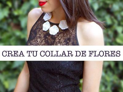 DIY Cómo hacer un Collar Joya de Flores | DIY Flowers Necklace