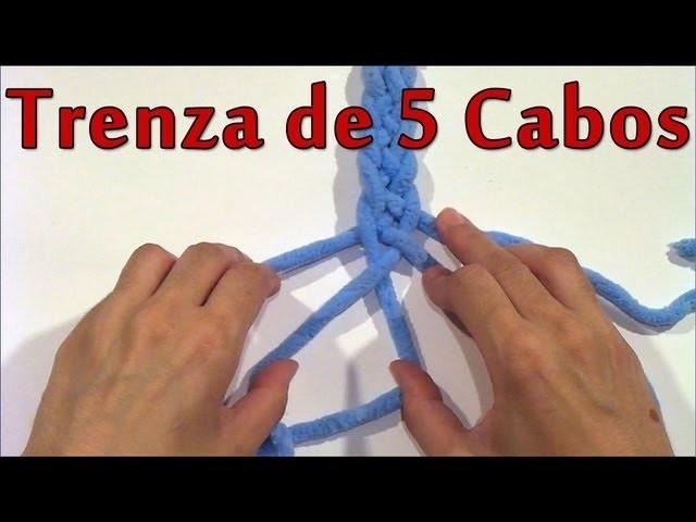 DIY Como hacer una trenza de 5 cabos - How to make a braid of 5 ends