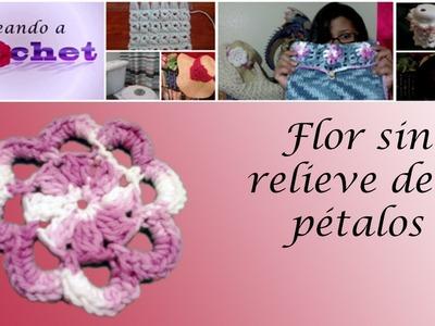 Flor sin relieve de 8 pétalos -Tutorial de tejido crochet