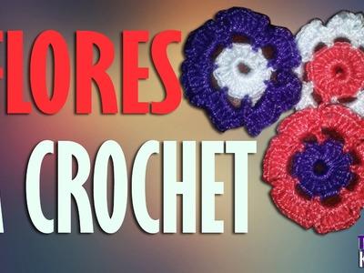 Flores Tejidas a Crochet Para Llaveros Souvenir o Decoración