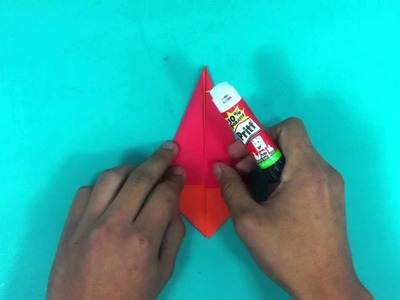 Hacer un Santa Claus de origami - Papá Noel de papel