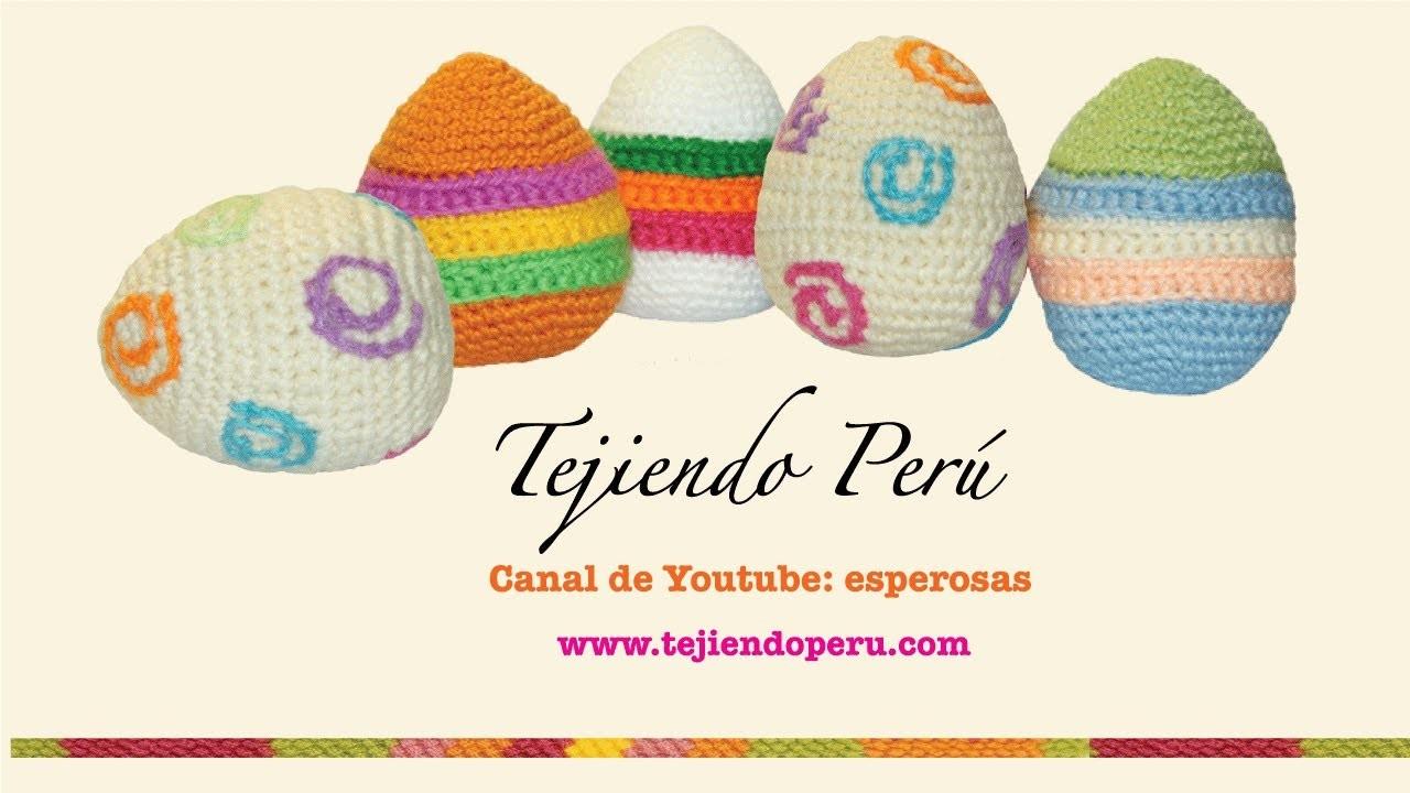 Huevos de Pascua tejidos en crochet o amigurumi (Easter eggs)