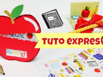 Manualidades fáciles,(scrapbook)tarjeta\regalo para el dia del maestro
