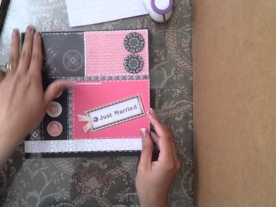 Manualidades: tarjeta scrapbook para felicitar