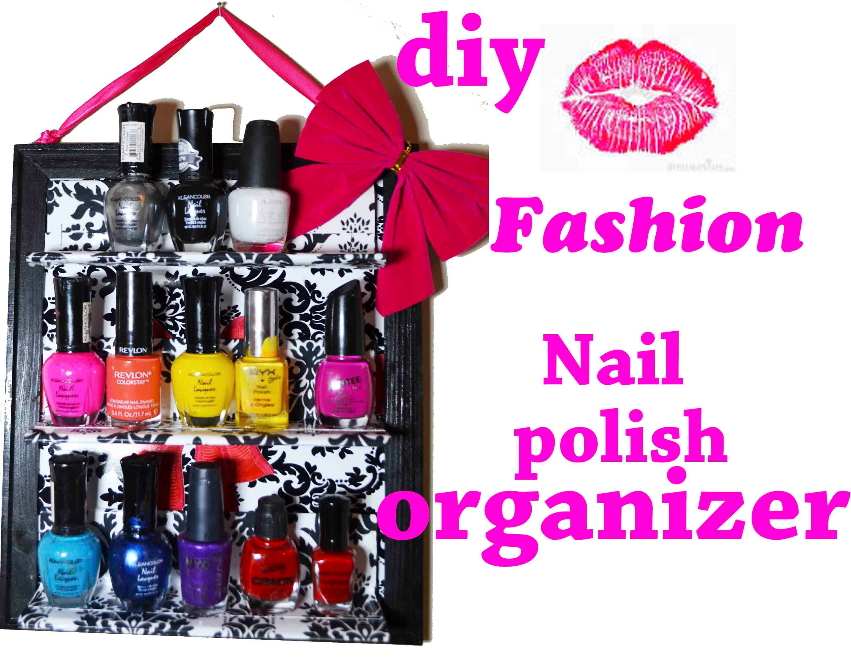 Nail polish organizer !!diy,organizador de pintura de unas a mi manera