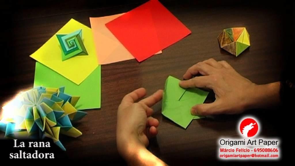 Origami Art Paper - La rana saltadora