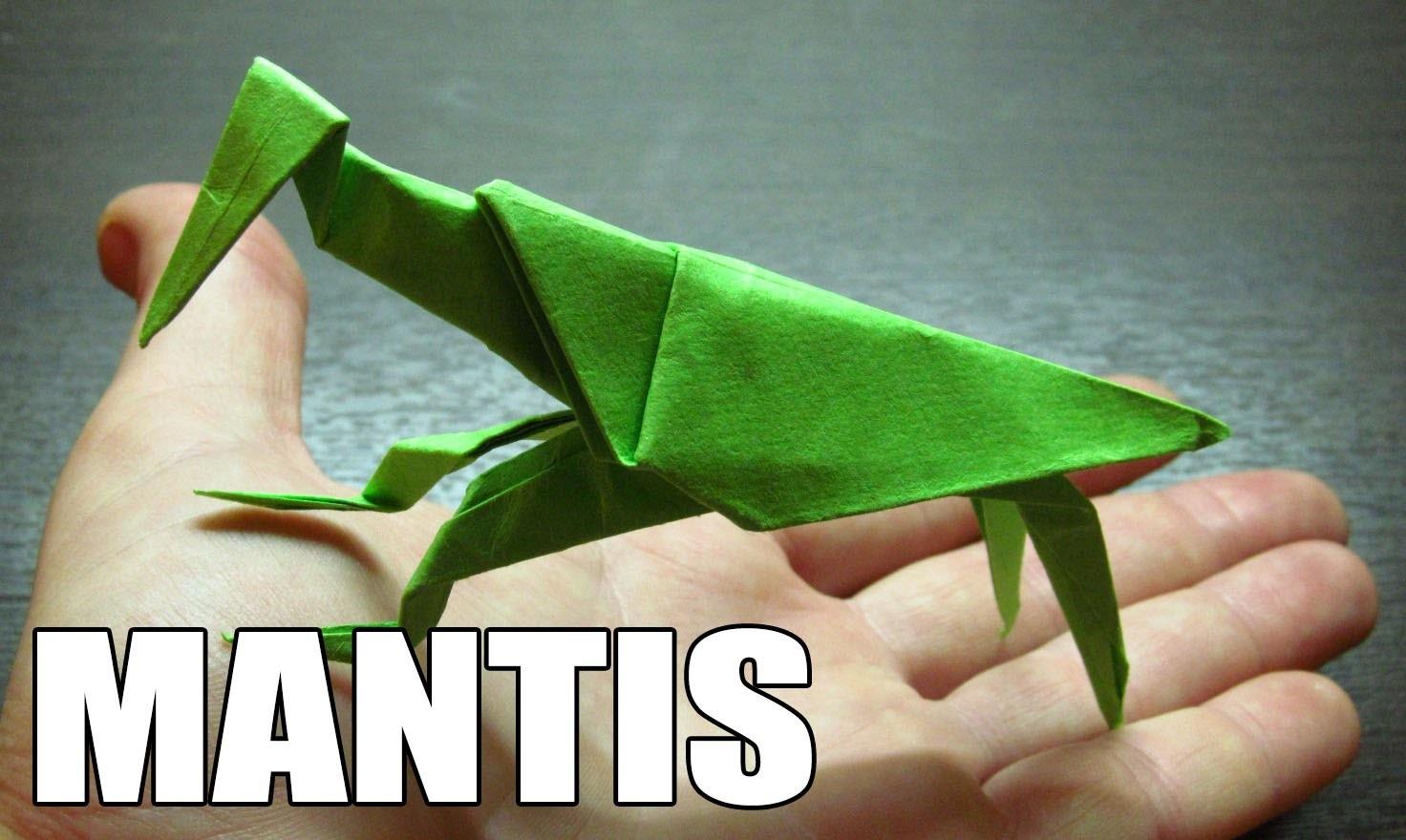 Origami de animales como hacer una mantis religiosa de - Como hacer un estor enrollable paso a paso ...