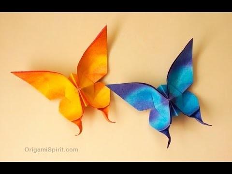 Origami mariposa, hermosa mariposa de origami))