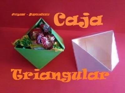 Origami - Papiroflexia. Caja en triángulo, muy fácil