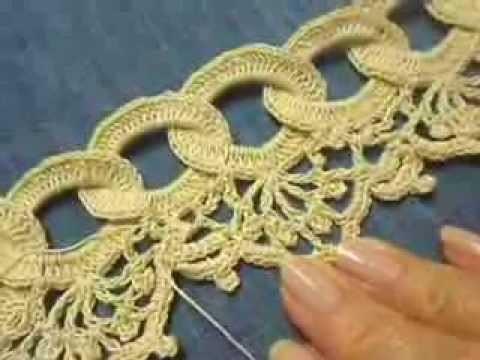Orilla # 9 Circulos en Crochet parte 2 de 2