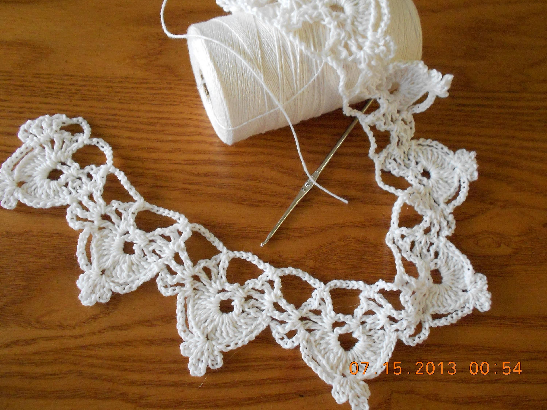 Orilla medias lunas tejido crochet