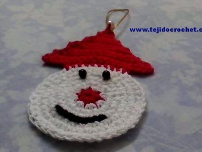 Papa Noel de Navidad en tejido crochet tutorial paso a paso.