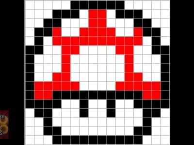 Patrón Hama Beads - Seta Super Mario Bros
