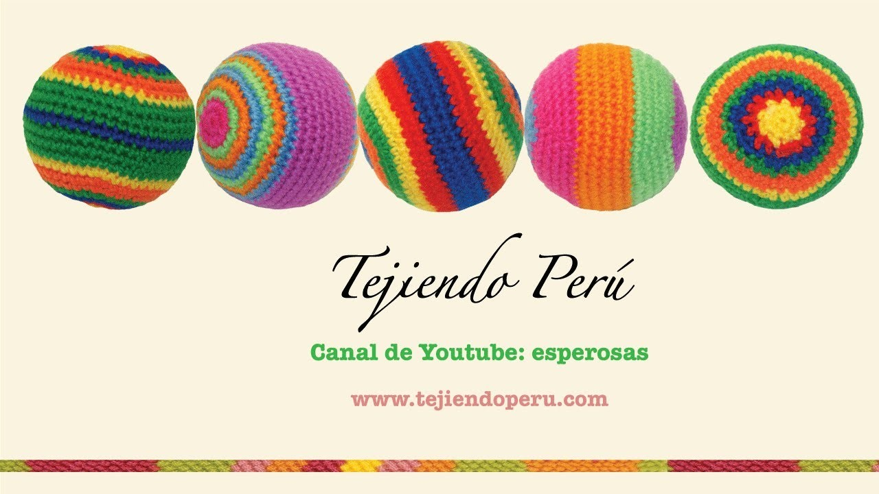 Pelotas de colores tejidas a crochet (amigurumi balls)