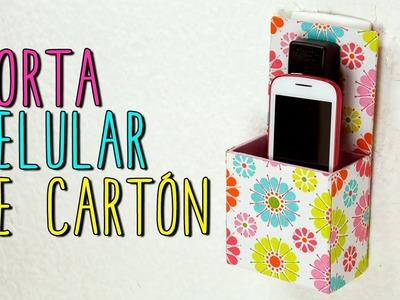 Porta Celular Reciclado de Cartón - DIY Porta Celular Casero - Cartonaje