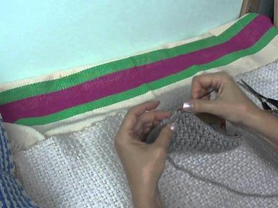 Puntada básica en ochos - telar maya