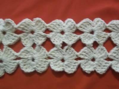 Puntada Florecitas crochet, paso a paso