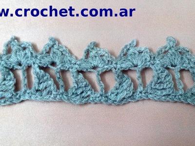 Puntilla Nº 5 en tejido crochet tutorial paso a paso.
