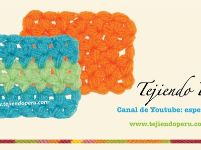 Punto fantasía en crochet # 16: flores de piñas