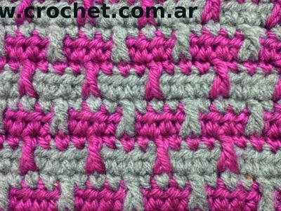 Punto Fantasía N° 16 en tejido crochet tutorial paso a paso.