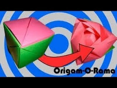Rosa de origami ideal para Día de San Valentín