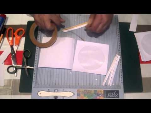 Scrapbook para principiantes: cómo hacer minialbum de fundas de cds,2º parte: Encuadernación básica.
