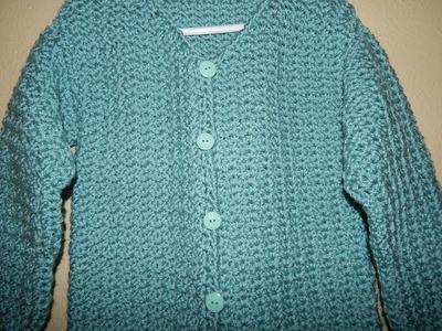 Sueter con Botones para Niña Crochet parte 1
