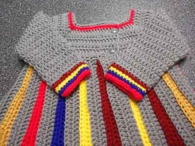 Sweter para niña Crochet parte 2 de 4