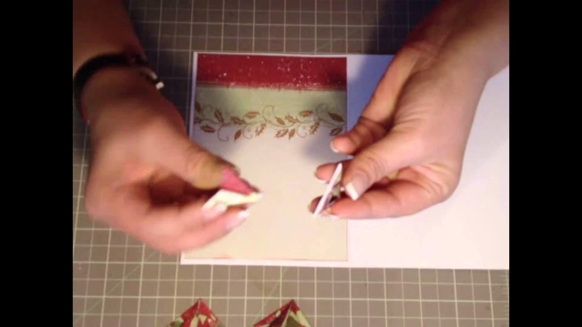 Tarjeta Navidad - Scrapbooking con Lily