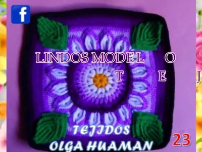 TEJIDOS A CROCHET PARA COLCHAS Y COJINES 02