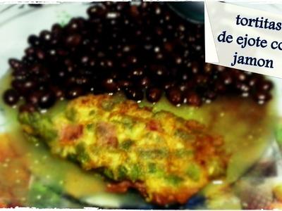 TORTITAS DE EJOTE CON JAMON !! DE TODO !!! recetas reciclaje y crochet