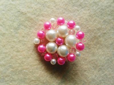 Tutorial: Broche o colgante de cuentas redondo. Beaded brooch or pendant