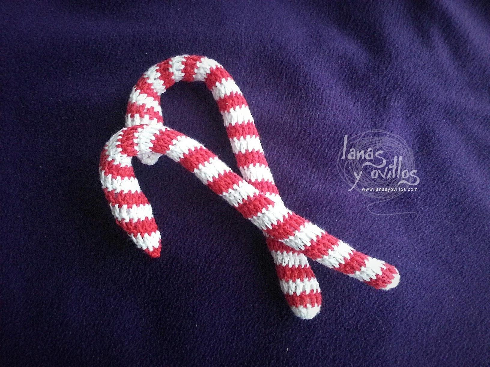 Tutorial Caramelo Navidad Candy Cane Crochet o Ganchillo Paso a Paso en Español