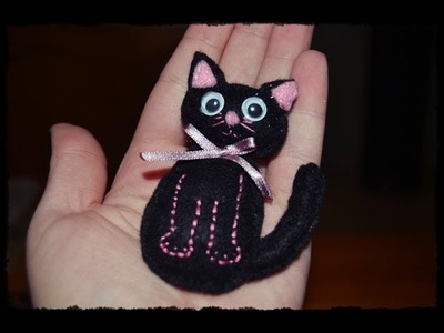 Tutorial DIY : ♥ Broche Gato de fieltro ♥