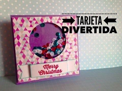 TUTORIAL Tarjeta Divertida Navideña.Chistmas Shaker Card