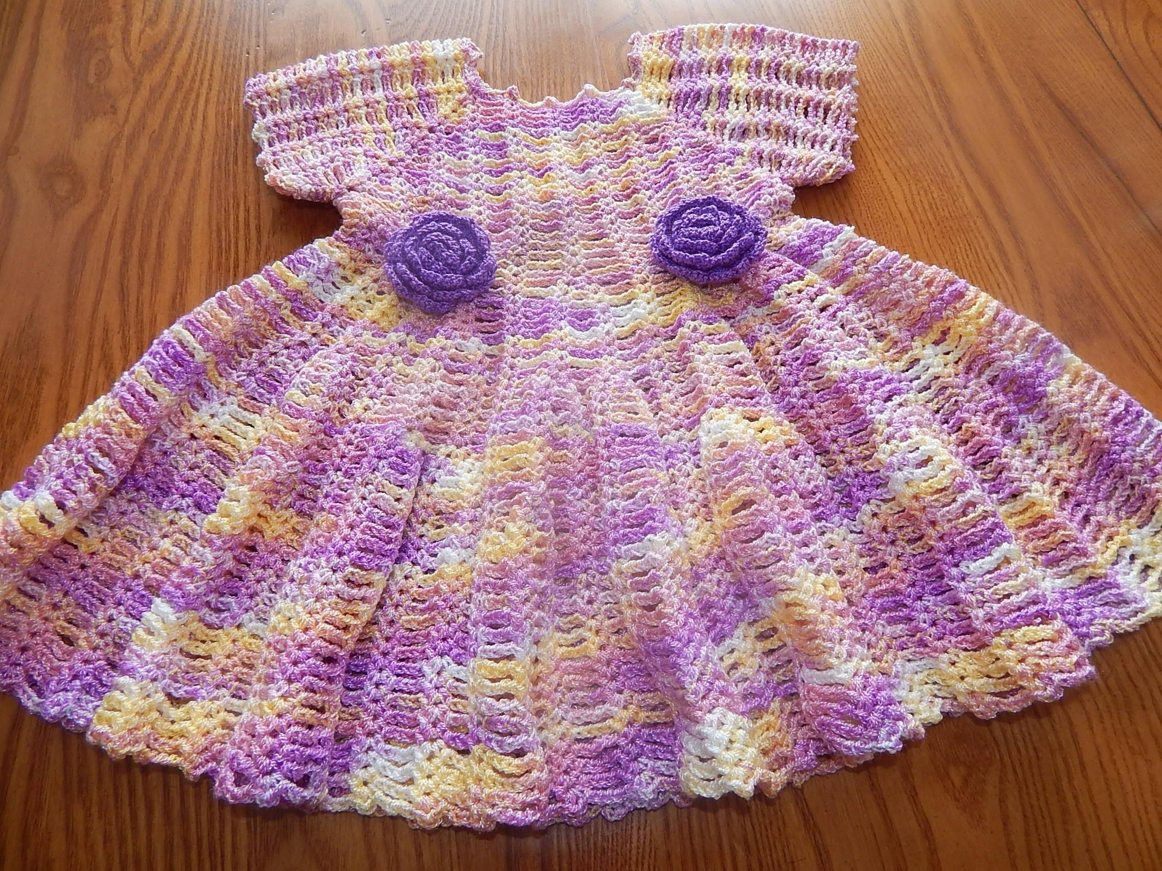 Vestido Matizado para Niña Crochet parte 1 de 2