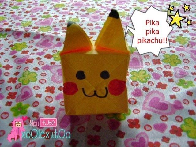 @xoOlexiitOo ❥DIY: Pikachu    Origami   Carta Inflable ❤ pika pika pikachu ❤