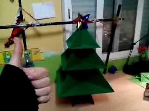 Árbol navideño de origami enorme  (Decoración navideña barata)