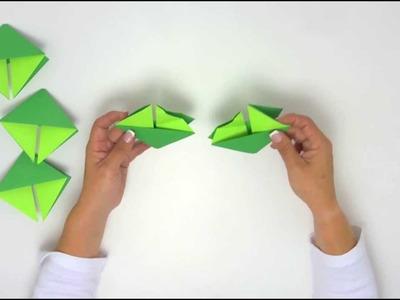 Arte con papel - Videocápsula 2 - Corona Navideña origami